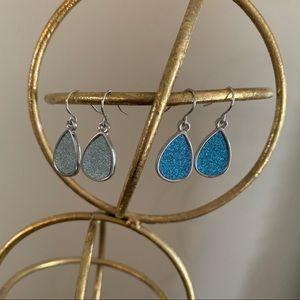 2 pairs silver earrings
